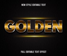 Golden new style editable text vector