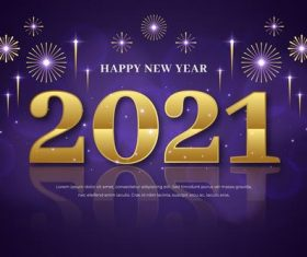 Golden new year 2021 background vector