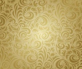 Golden patterned seamless texture vector