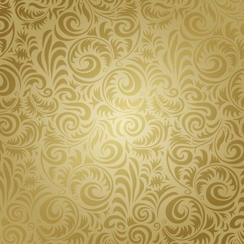 Golden patterned seamless texture vector