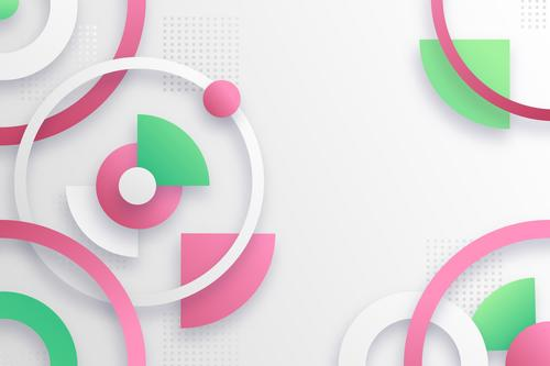 Gradient abstract design geometric background shape vector