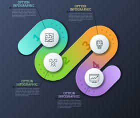 Gradient color business chart options vector