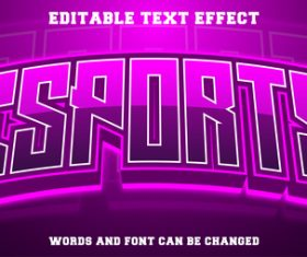 Gradient purple background text style effect vector