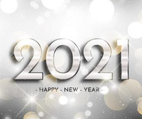 Gray white new year 2021 background vector