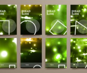 Green background brochure design vector