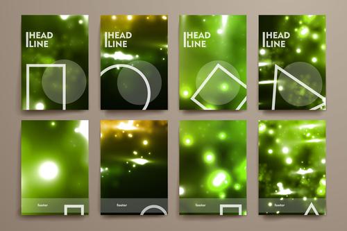 Green background brochure design vector