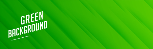 Green banner with diagonal stripes pattern vector