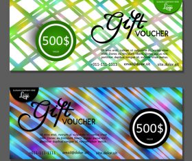 Green blue background gift card voucher vector