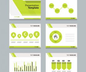 Green chart information vector
