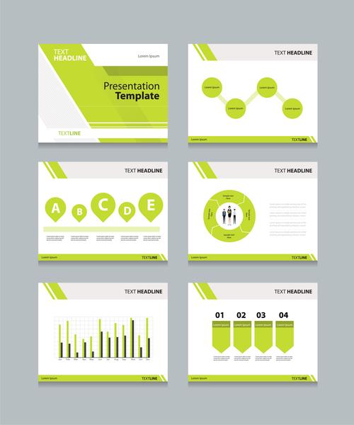 Green chart information vector