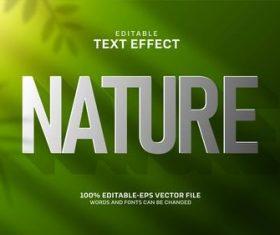 Green gradient background editable text effect vector