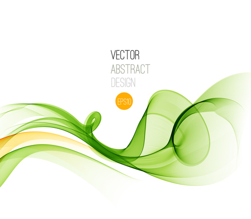 Green orange abstract background vector