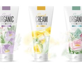 Hand cream cosmetics advertisement vector
