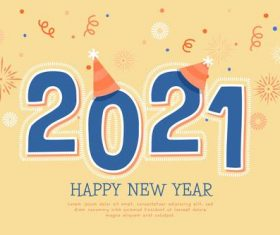 Hand drawn new year 2021background vector