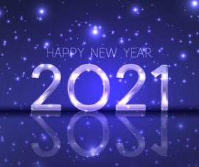 Happy new year banner with modern sparkling design vector