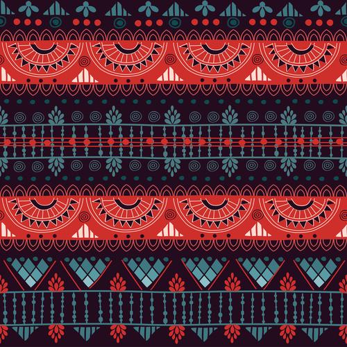 Harmony violet ethnic seamless pattern vector