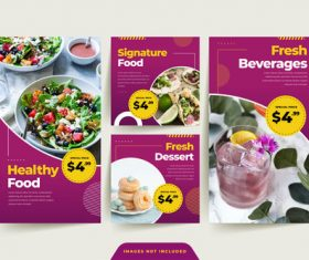 Healthy food sale poster vector