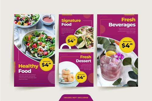 Healthy food sale poster vector