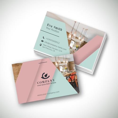 Hotel modern template business card design vector