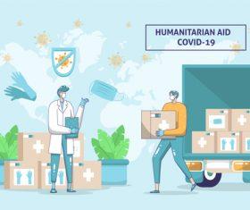 Humanitarian aid covid-19 vector