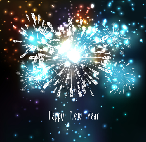Illustration holiday fireworks vector