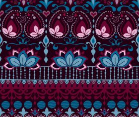 India burgundy seamless pattern vector