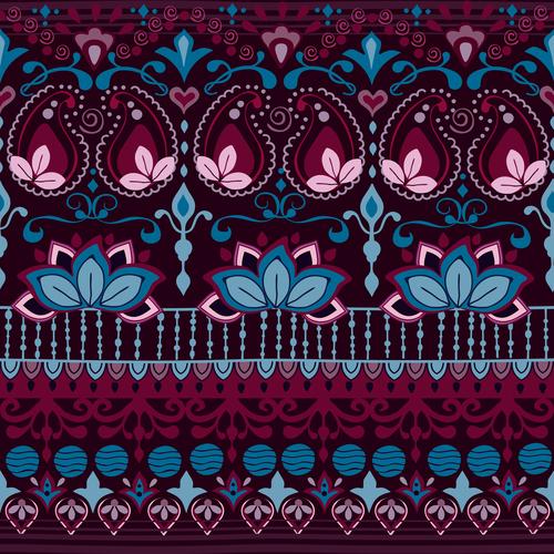 India burgundy seamless pattern vector