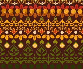 India spices seamless pattern vector