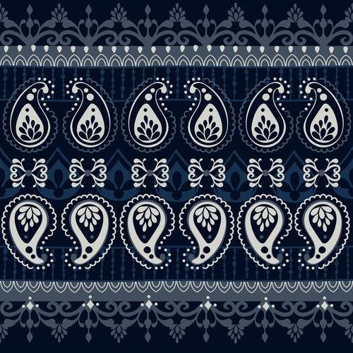 India white blue seamless pattern vector