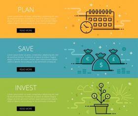 Investment web banner set vector