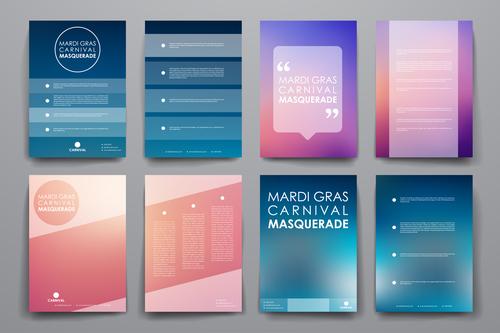 Invitation card cover design vector
