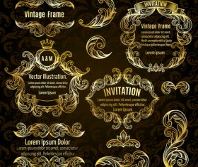 Invitation golden vector