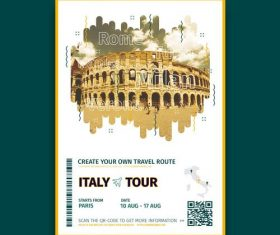 Italy abstract travel poster vector