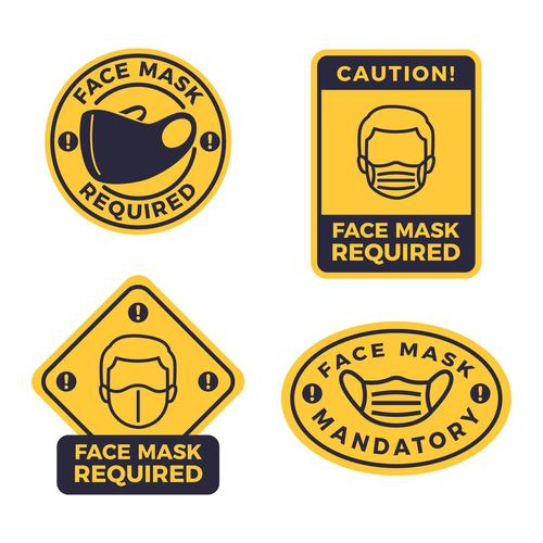 Keep your distance sign collection vector