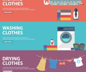 Laundry room banner vector