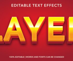 Layer green editable font effect text vector