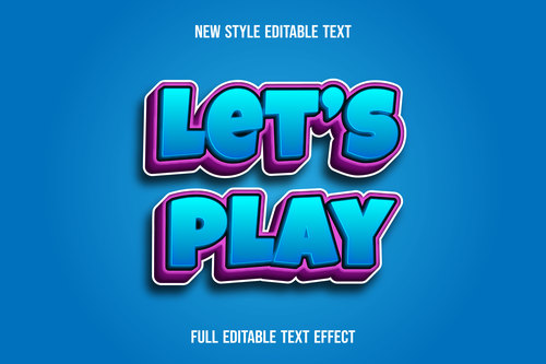 Lets play disable font effect text vector