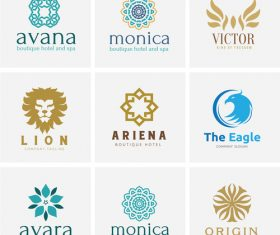 Logo design set vector