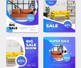 Lowest Price Sofa Promotion Flyer Vector