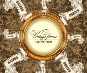 Luxury retro labels vector