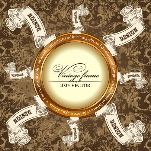 Luxury retro labels vector