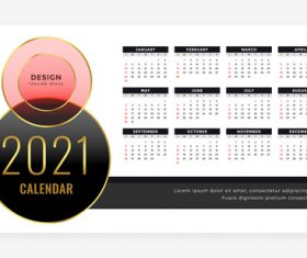 Luxury style new year calendar template vector