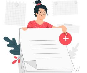 Making a life plan cartoon illustration vector
