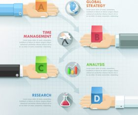 Management time templates of Infographics vector