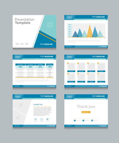 Market analysis chart information vector