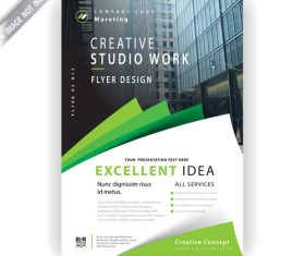 Marketing flyer template vector