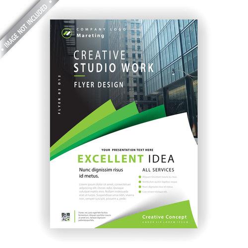 Marketing flyer template vector
