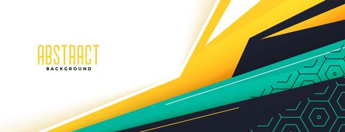 Memphis style modern banner design vector