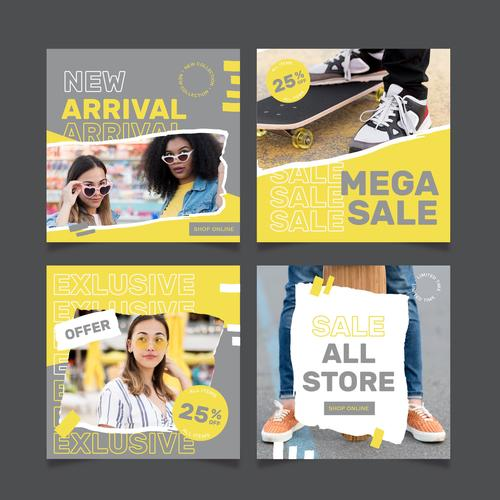 Merchandise promotion discount vector