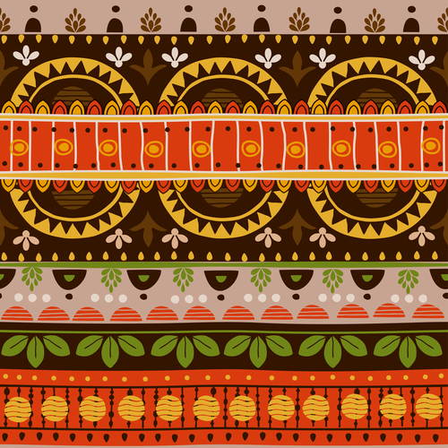 Mexico brown seamless background pattern vector